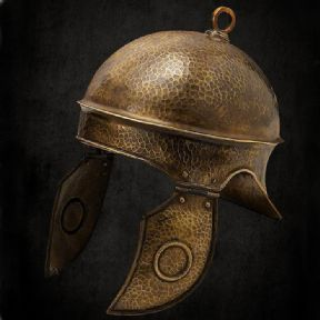 Hammered Brass Roman Helmet